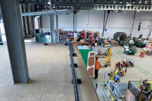 Mezzanine floor of new offices